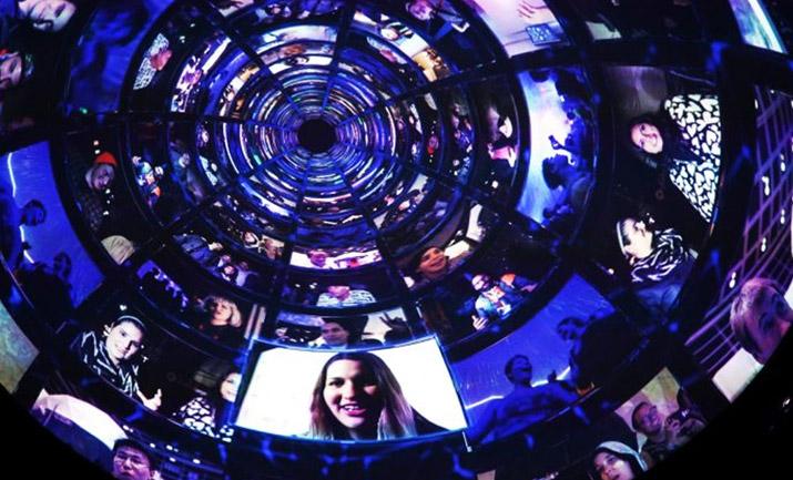 OMNISPACE360 Immersive Media  Systems Dome Interior Live Streaming