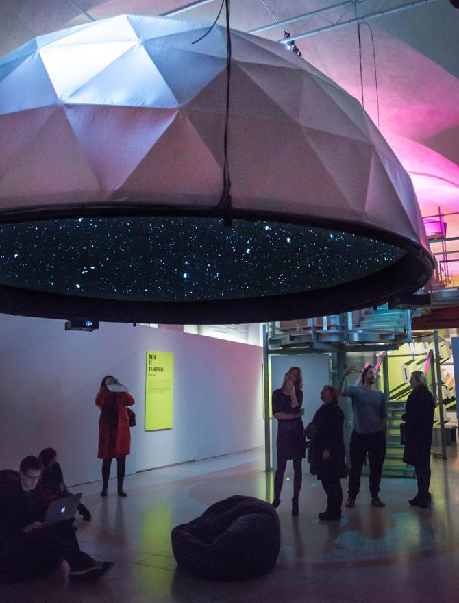 Suspended Exhibit Domes