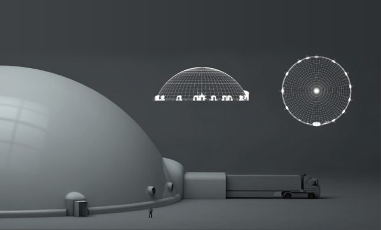 Inflatable Projection Domes