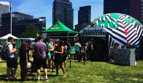 Heineken Silent Disco Dome