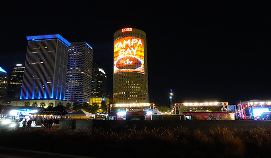 Super Bowl LV Tampa Projection Mapping